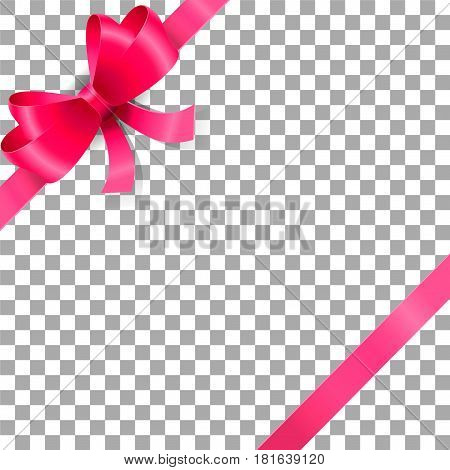 Ribbon icons Vector illustration on a transparent background.
