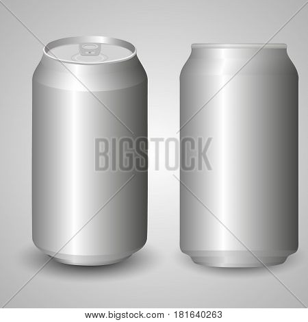 The image of the empty layout for your design. Package design. Bottle with water drops. Mock up illustration. Bank of carbonated water. Tasty drink, can lemonade or beer