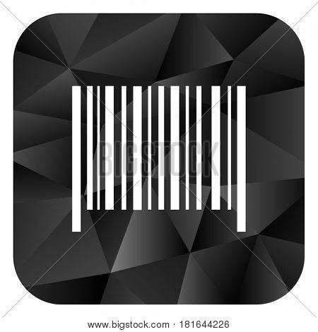 Barcode black color web modern brillant design square internet icon on white background.