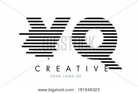 Ye Y E Zebra Letter Logo Design With Black And White Stripes