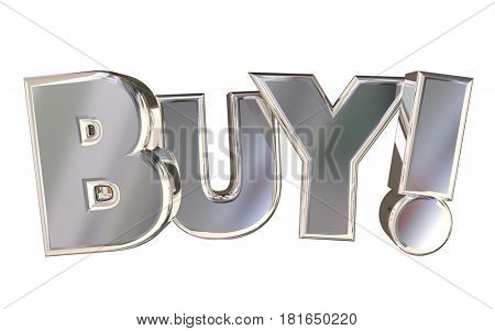 Buy Letters Rising Word Customer Shopping 3d Illustration