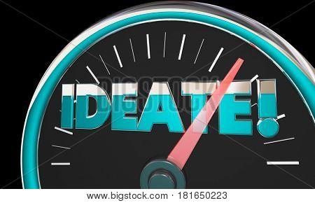 Ideate Speedometer Measurement Gauge 3d Illustration