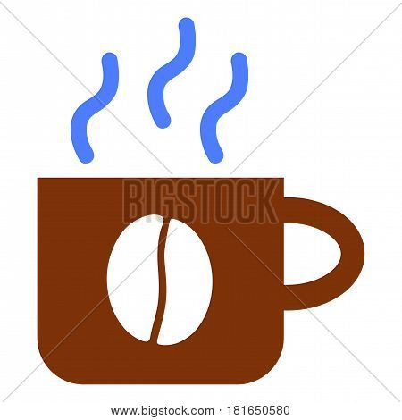 Coffee Cup vector pictograph. a flat illustration iconic design.