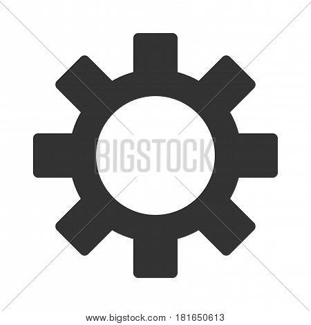 Cog Wheel vector pictogram. a flat illustration iconic design.