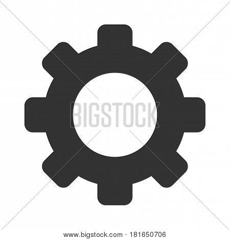Cog vector icon. a flat illustration iconic design.