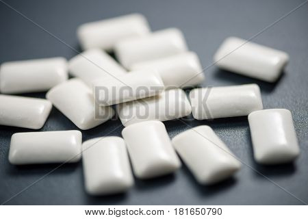 White Chewing Gum high quality and high resolution studio shoot