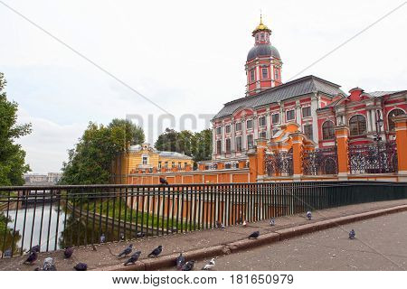 Svyato-Troitskaya Alexander Nevsky Lavra is male Orthodox monastery in Saint Petersburg. Architectural complex with famous necropolis where tombs of outstanding personalities of XVIII-XIX centuries.