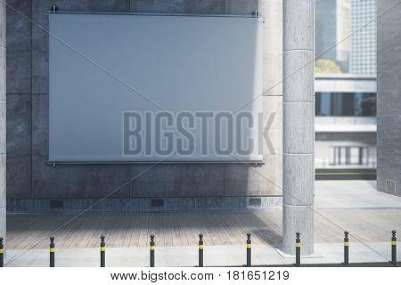 Blank White Billboard, Daytime