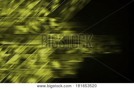 Abstract Green Dark Background Crossing Smudges. Smudge Abstraction