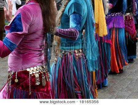 Vibrant exotic dancers