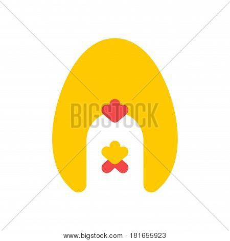 Chicken And Egg Logo For Eggs Production. Chicken Farm Emblem. Poultry Farm Sign