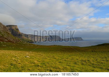 Beautiful landscape at Neist Point on the westerly most point of the inner hebrides.