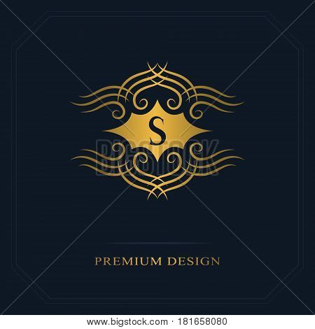 Modern logo design. Geometric initial monogram template. Letter emblem S. Mark of distinction. Universal business sign for brand name company business card badge. Vector illustration
