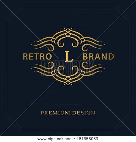 Modern logo design. Geometric initial monogram template. Letter emblem L. Mark of distinction. Universal business sign for brand name company business card badge. Vector illustration