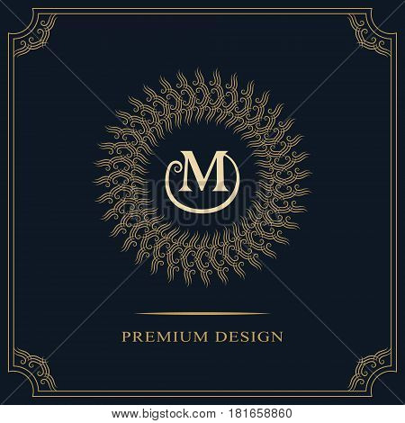 Modern logo design. Geometric initial monogram template. Letter emblem M. Mark of distinction. Universal business sign for brand name company business card badge. Vector illustration
