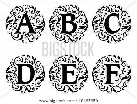 alphabet ornament vector photo free trial bigstock