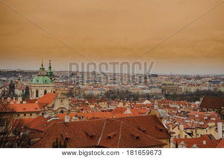 Czech Republic Prague On Sunset
