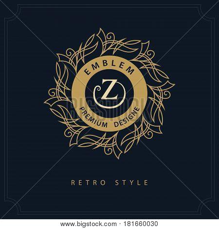 Modern logo design. Geometric initial monogram template. Letter emblem Z. Mark of distinction. Universal business sign for brand name company business card badge. Vector illustration