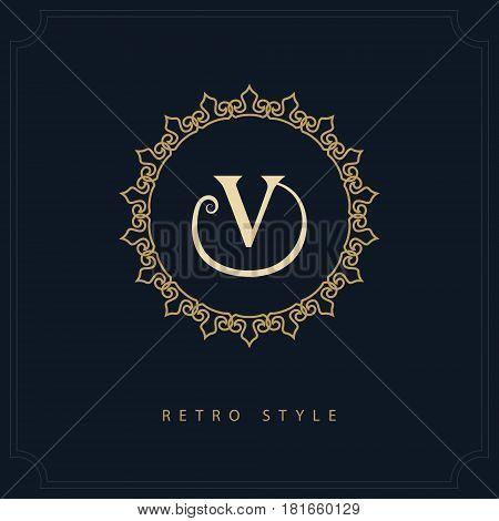 Modern logo design. Geometric initial monogram template. Letter emblem V. Mark of distinction. Universal business sign for brand name company business card badge. Vector illustration
