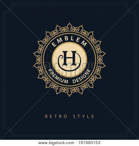 Modern logo design. Geometric initial monogram template. Letter emblem H. Mark of distinction. Universal business sign for brand name company business card badge. Vector illustration
