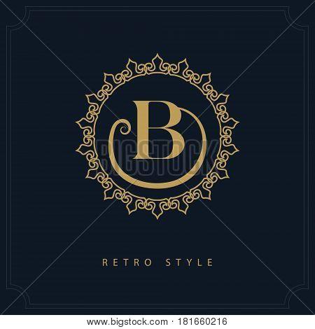 Modern logo design. Geometric initial monogram template. Letter emblem B. Mark of distinction. Universal business sign for brand name company business card badge. Vector illustration