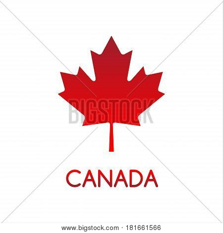 Simple vector illustration of Canadian maple leaf Canada Canadian red symbol