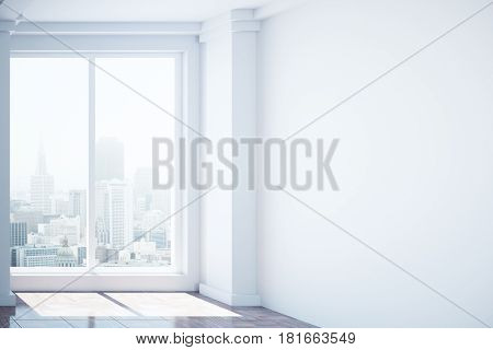 Room With Blank Concrete Wall