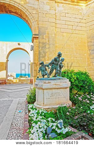 Gavroches Small Boys Statue At Upper Barracca Gardens Valletta Malta