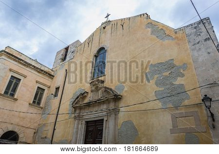 Carmine Church on Ortygia isle Syracuse city Sicily Island in Italy
