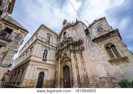 Immaculate Conception Church on the old part of Syracuse - Ortygia isle Sicily Italy
