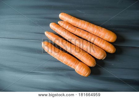 Orange carrots in various sizes, just carrot pictures