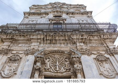 Abbey Church of Saint Lucy at Cathedral Square on Ortygia isle Syracuse city Sicily Island in Italy