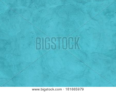 Turquoise Painted Plaster Wall As A Background