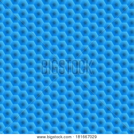 Hexagons. Removal of blue superimposed honeycombs. A bright and bright background for your work. Wallpaper for Web sites. Monotone colors from light to dark. Illustration for your projects