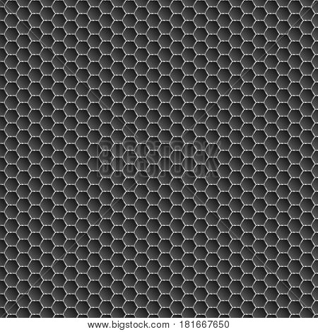 Background of black honeycombs. Bright and bright background for your work. Wallpapers for web sites. Monotonous colors. A dark illustration. Illustration for your projects. Cyber background
