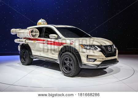 NEW YORK- APRIL 12: Nissan Rogue One:  A Star Wars Story shown at the New York International Auto Show 2017, at the Jacob Javits Center on April 12, 2017  in New York City.