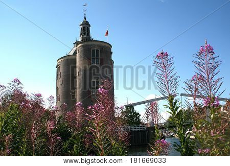 Enkhuizen, The Drommedaris Is An Old City Tower
