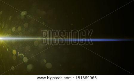 Abstract Of Lighting Digital Lens Flare In Dark Background