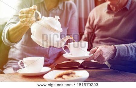 Tea Couple Together Rest Leisure