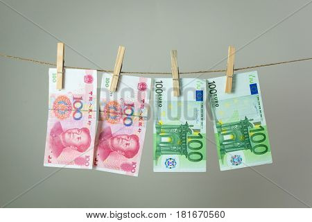 Money Laundry Concept