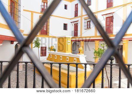 Bullring Area In Seville