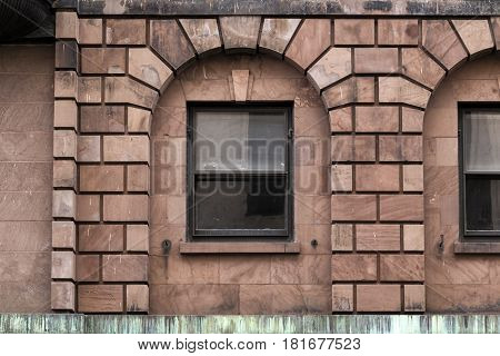 Windows of the buildings in Boston, Massachusetts