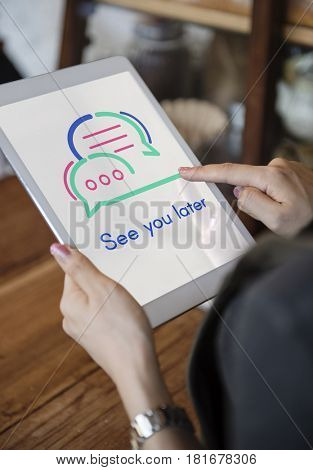 See You Later Socialize Communication Concept