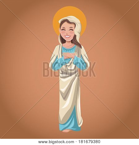 virgin mary spiritual religious christian vector illustration eps 10