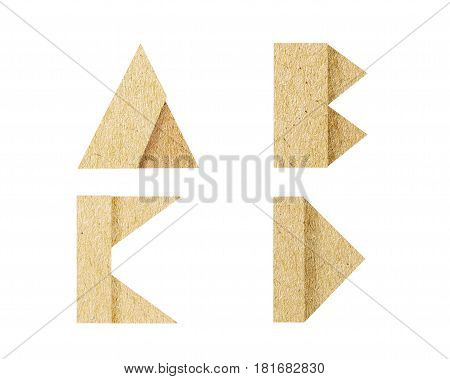 Vintage Font graphic is paper craft font. recycle style is rough texture and isolated on white background. It's dicut object to attached with path files.