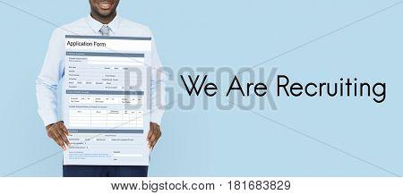 Job search blank application form