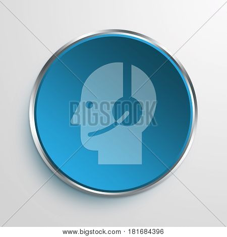 Blue Sign customer support Symbol icon Business Concept