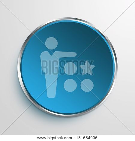 Blue Sign differentiation Symbol icon Business Concept