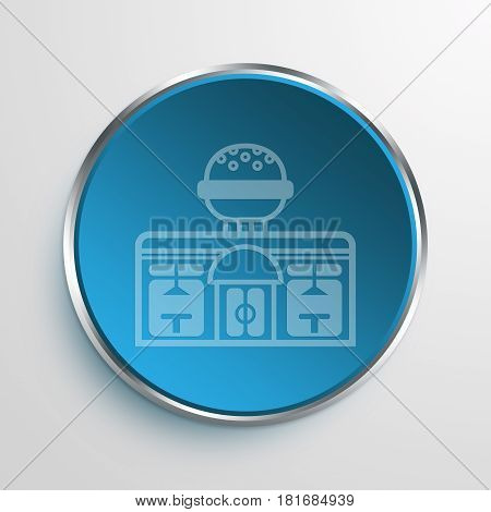 Blue Sign Diner Symbol icon Business Concept
