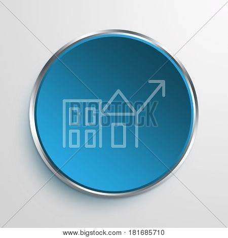 Blue Sign Economic Revitalization Symbol icon Business Concept